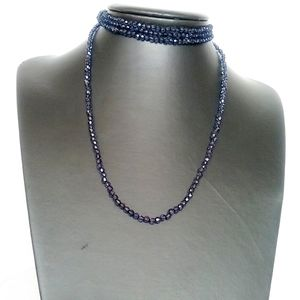 🎈3/$12 Dark Blue Bead Necklace for Women